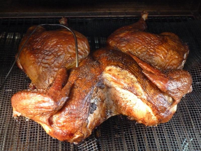 Smoked spatchcock turkey