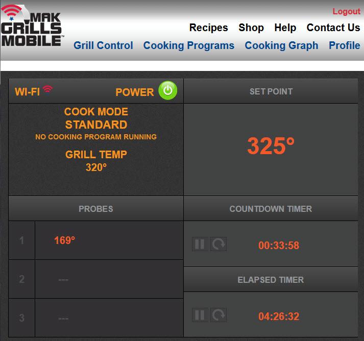 MAK Grills WiFi Module Interface