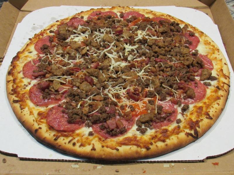 Pellet smoker-grill Pizza resting