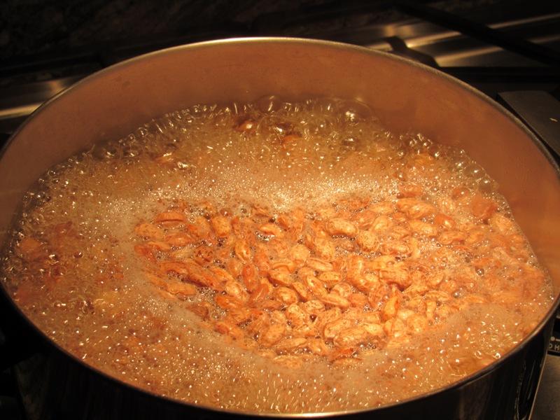 Hot soaking pinto beans