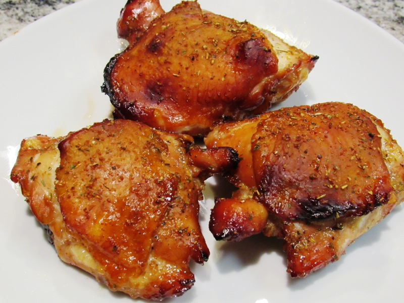 Oven Baked Marinaded Chicken Thighs