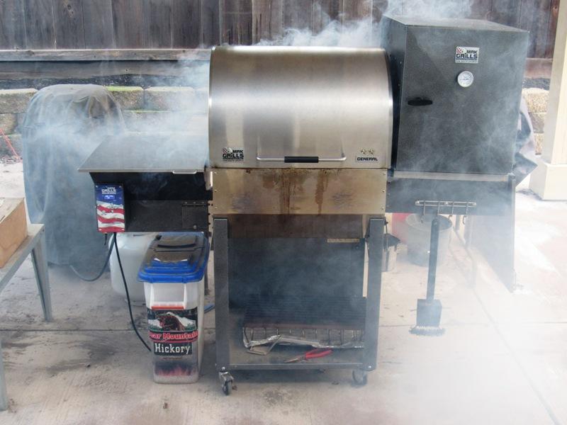Preheating Pellet Grill