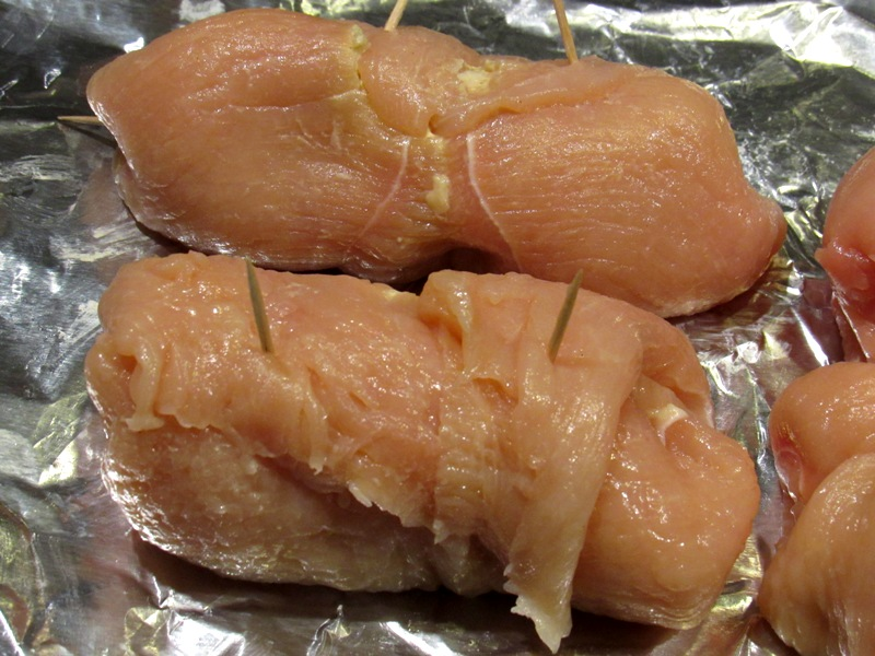 Rolled Chicken Breasts