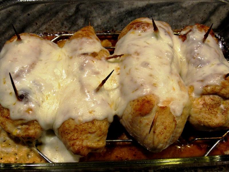 Mozzarella topped breasts
