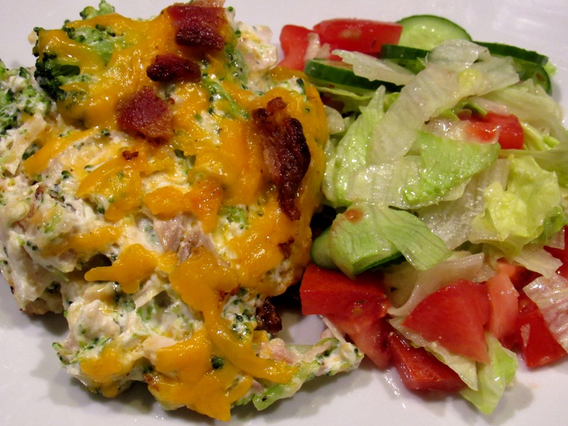 Low Carb Bacon Chicken Broccoli Casserole