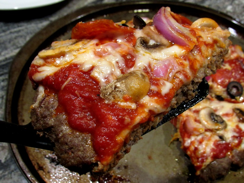 Meatza Pie Crustless Low Carb Pizza