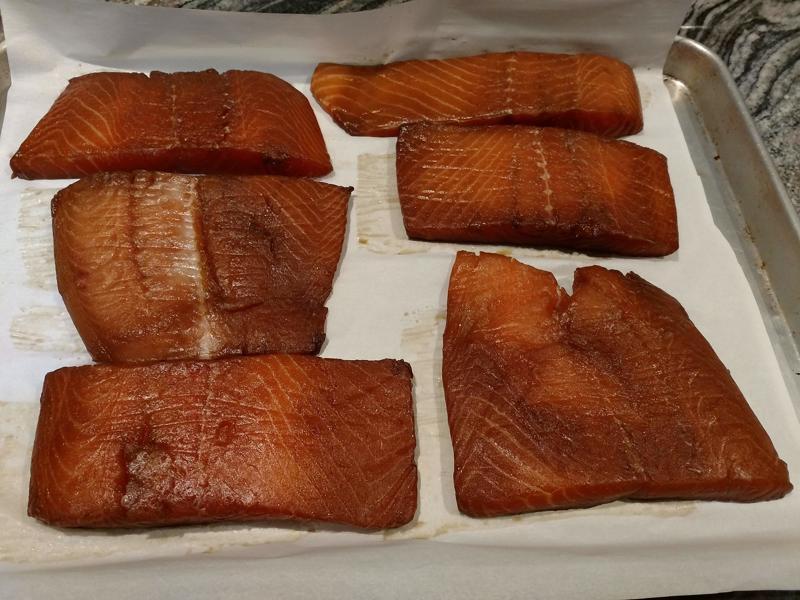 Brined Salmon Filets
