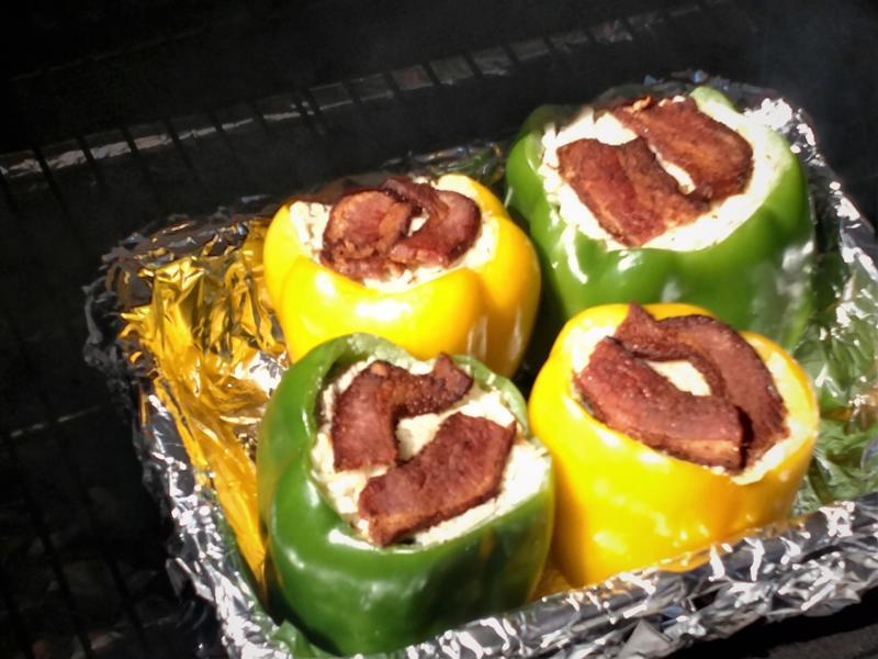 Stuffed Peppers in GMG Davy Crockett