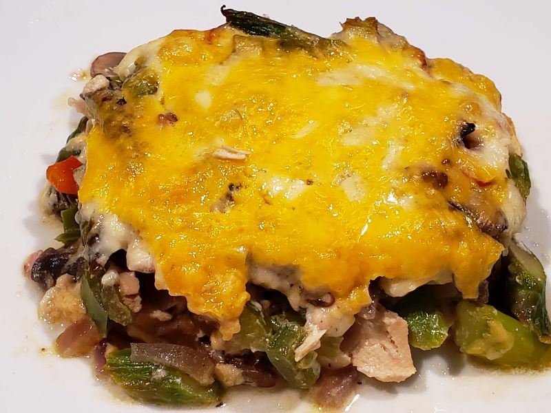 Low Carb Chicken and Asparagus Casserole