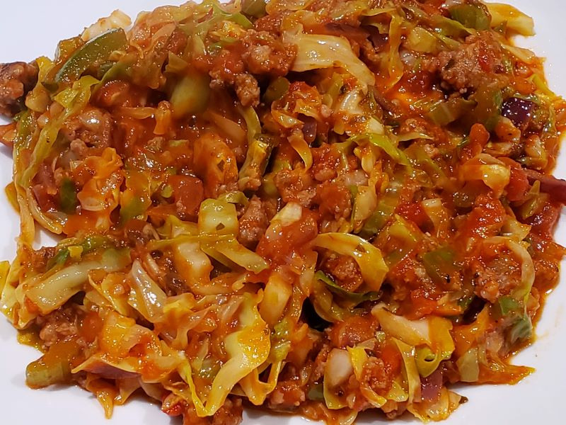 Low Carb Unstuffed Cabbage Rolls