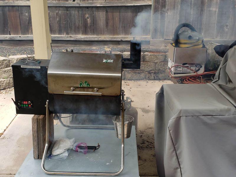 Preheating GMG Davy Crockett