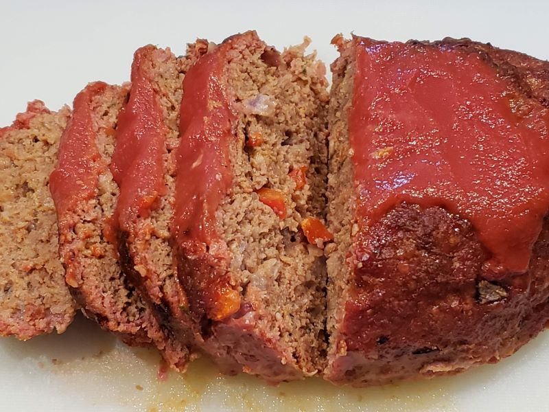 Sliced Smoked Meatloaf