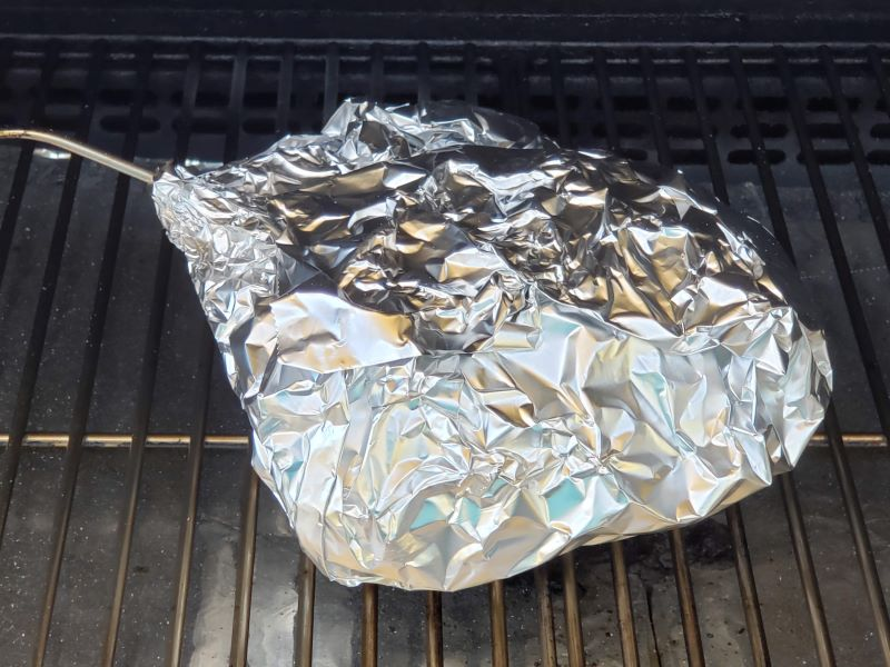 Pork Butt wrapped in Foil